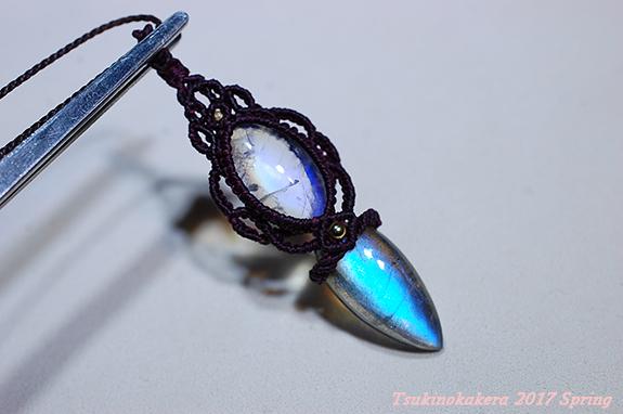 画像1: ☆5/10UP☆ディープブルーのラブラドライト×ロイヤルブルームーンストーン小粒デザイン一点物。完璧なデザインに完璧な天然石:月のかけらの紋章